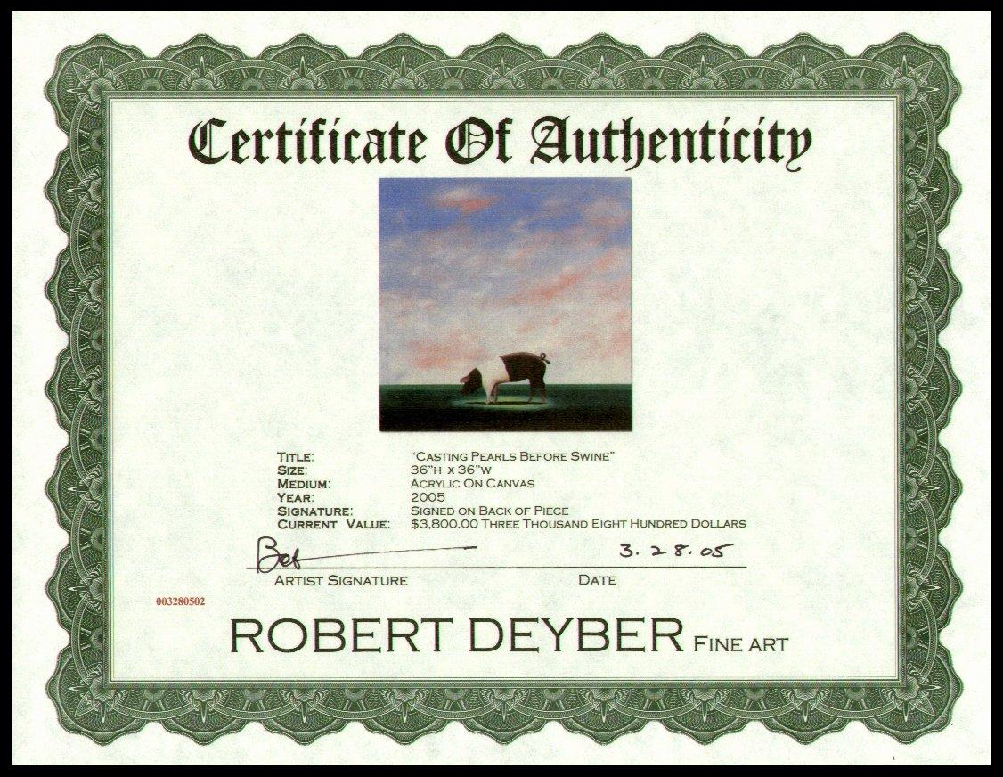 Artwork Certificate Of Authenticity Template Unique Modern Certificate Border