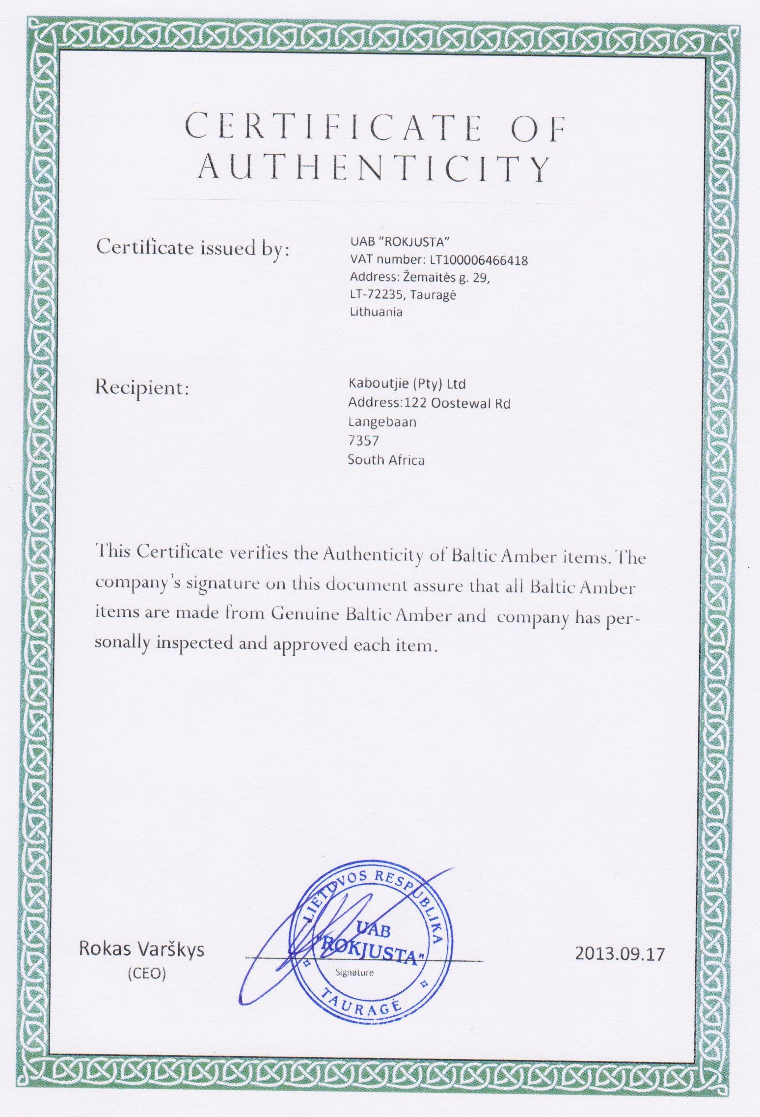 Artwork Certificate Of Authenticity Templates Beautiful Amber Certificate Of Authenticity
