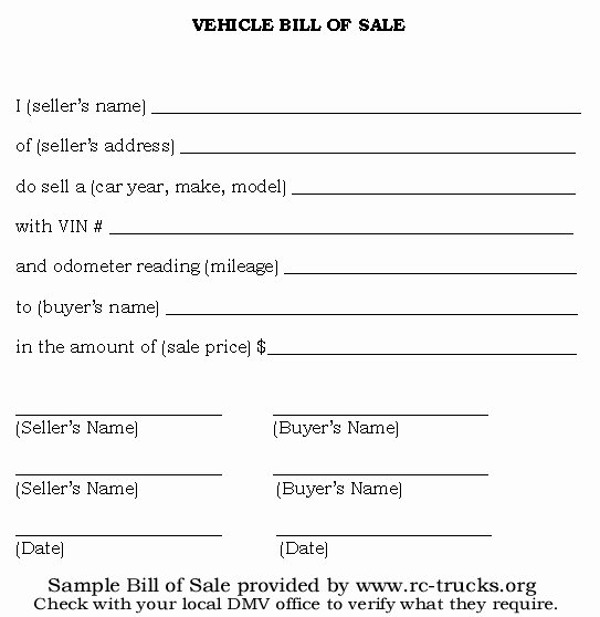 As is Bill Of Sale form for Vehicle Unique Free Printable Vehicle Bill Of Sale Template form Generic