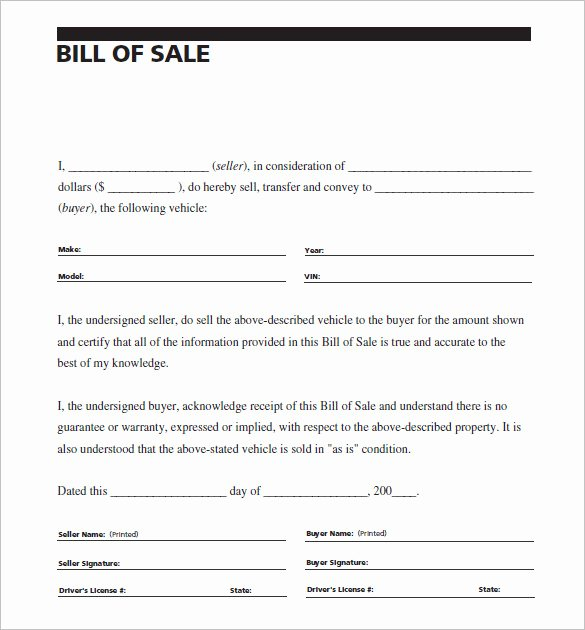 As is Bill Of Sales Best Of 8 Auto Bill Of Sale Doc Pdf