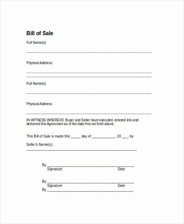 As is Bill Of Sales Inspirational Sample Bill Of Sale form 9 Examples In Pdf Word