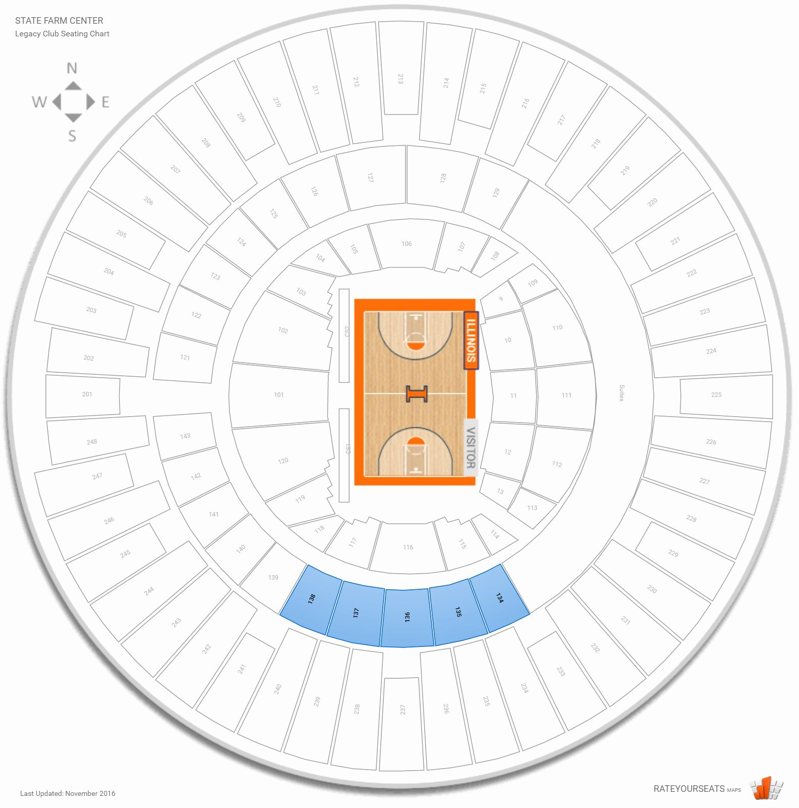 Assembly Hall Seating Chart Beautiful Club and Premium Seating at State Farm Center
