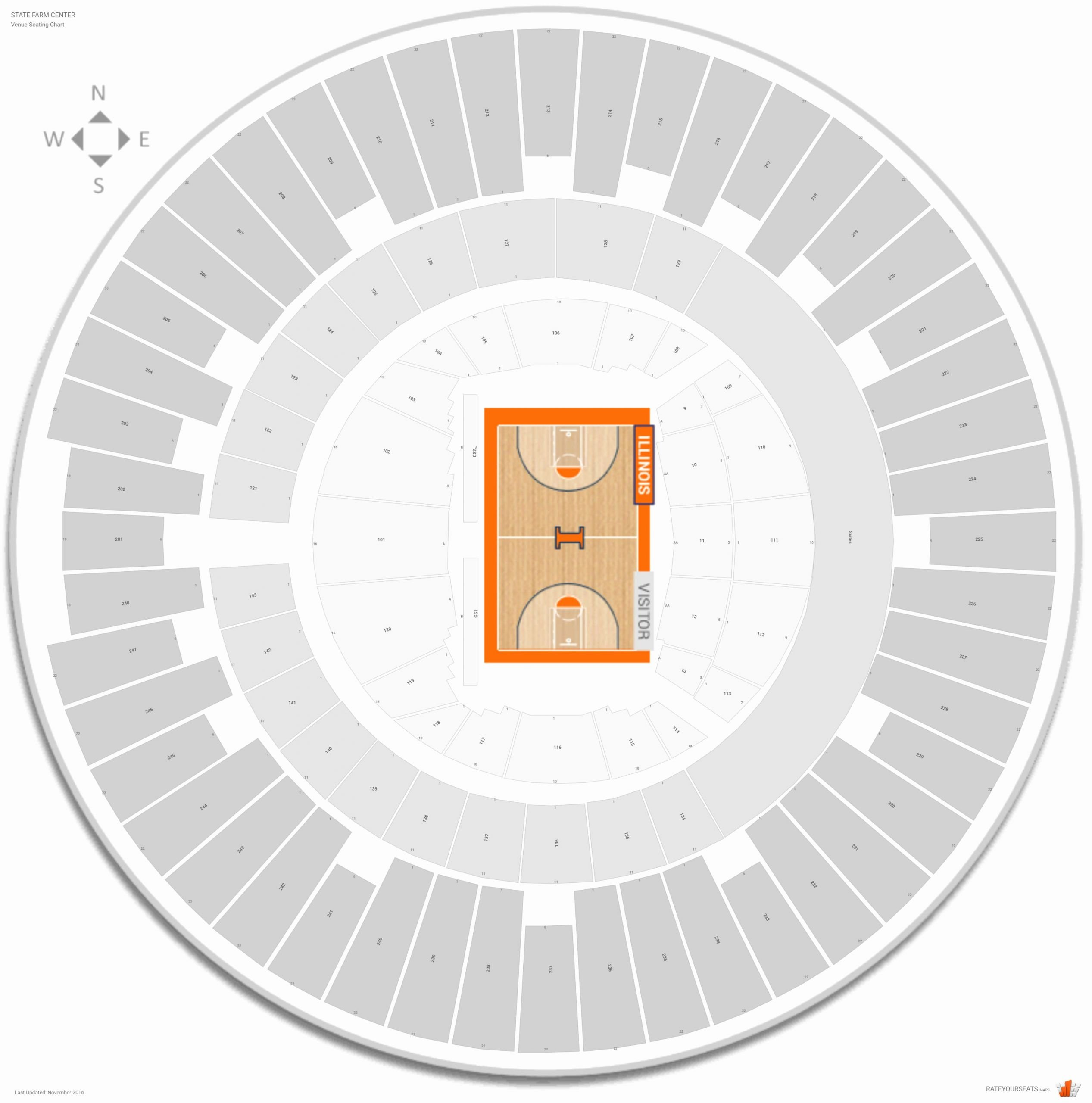 Assembly Hall Seating Chart Lovely State Farm Center Illinois Seating Guide Rateyourseats