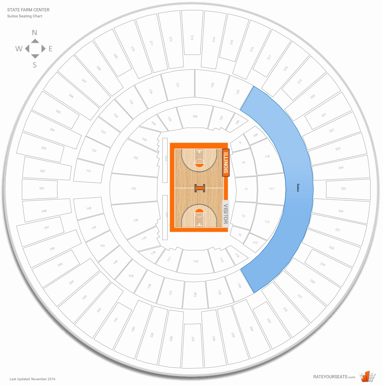Assembly Hall Seating Chart Lovely Suites State Farm Center Basketball Seating