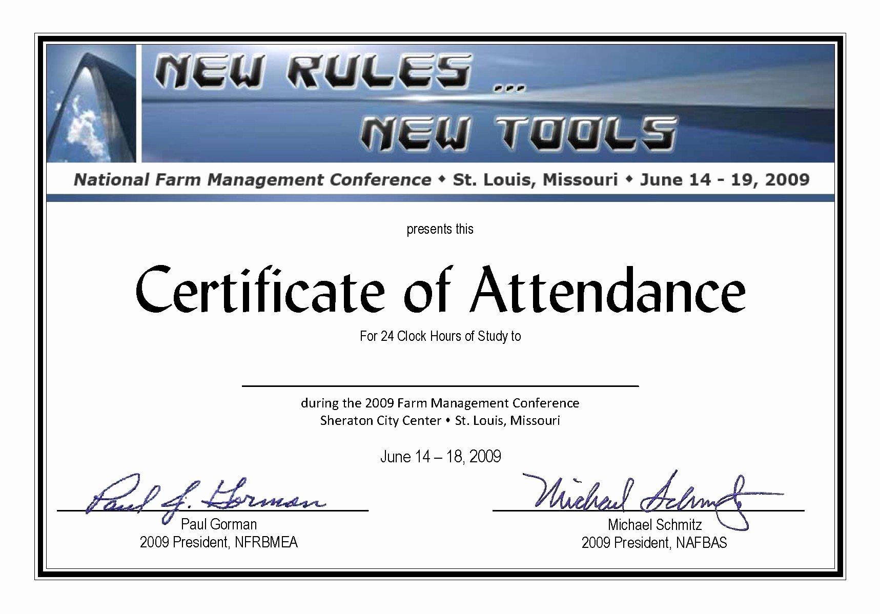Attendance Certificate Template Word Beautiful attendance Certificate Template Word