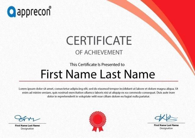 Attendance Certificate Template Word Beautiful Certificate Template Free Download Psd