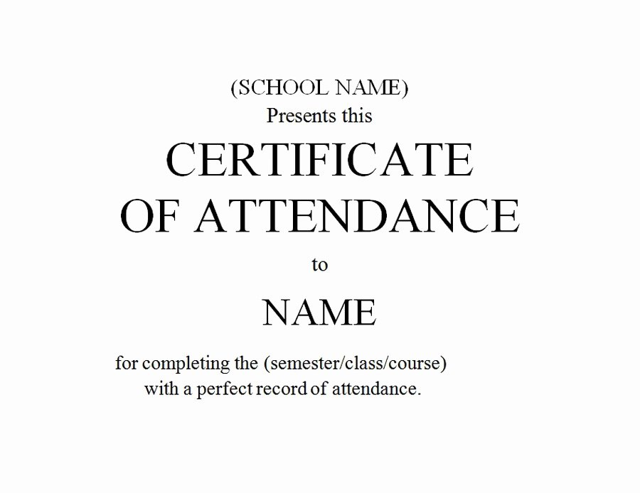 Attendance Certificate Template Word Beautiful Geographics Certificates
