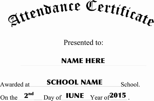 Attendance Certificate Template Word Fresh 11 attendance Certificate Template Free Download