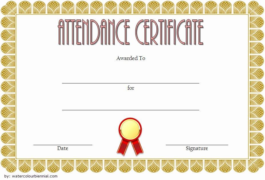 Attendance Certificate Template Word Luxury 8 Printable Perfect attendance Certificate Template Designs