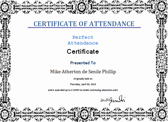 Attendance Certificate Template Word New Ms Word Perfect attendance Certificate Template