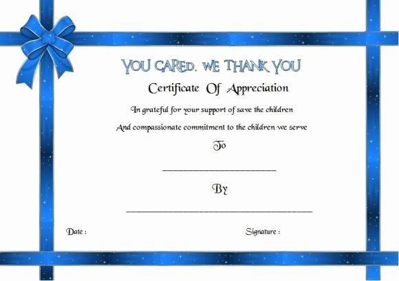 Auction Item Certificate Template Best Of Thank You for Your Donation Certificate Template