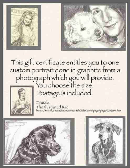 Auction Item Certificate Template Fresh Gift Certificate for A Custom 5x7 Graphite Portrait