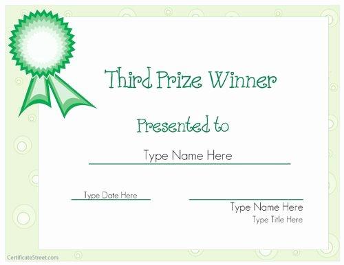 Auction Winner Certificate Template Beautiful Sports Certificate Third Prize Winner Certificate