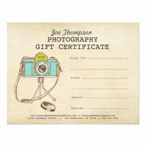 Auction Winner Certificate Template Elegant Grapher Graphy Gift Certificate Template