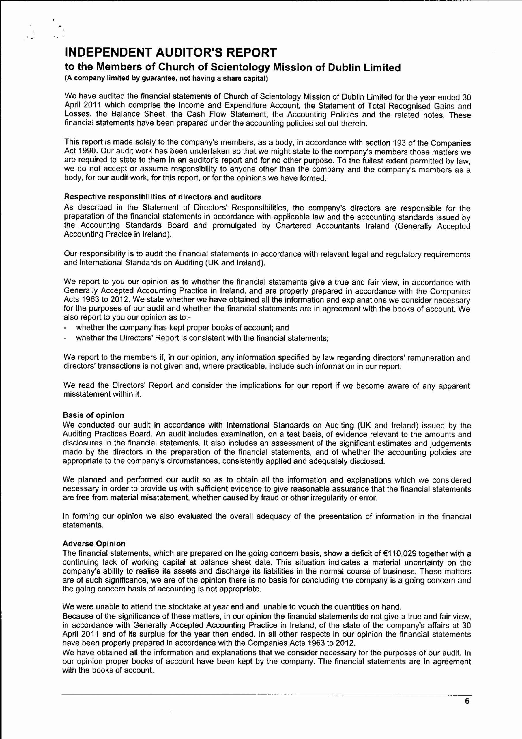 Audited Financial Statements Sample Elegant Church Audited Financial Statements Statement Template