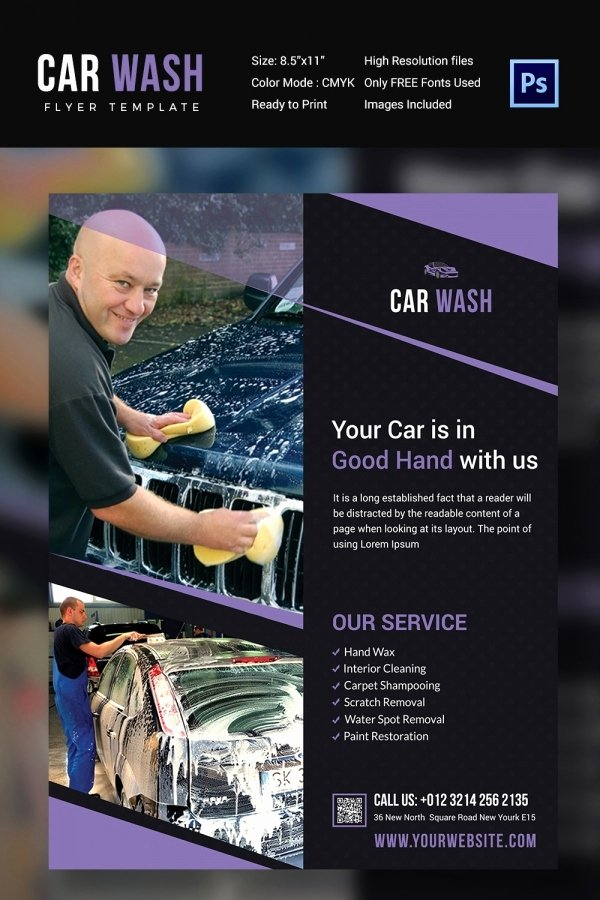 Auto Detailing Flyer Template Fresh Car Wash Flyer 48 Free Psd Eps Indesign format