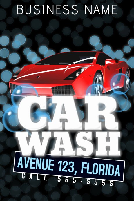 Auto Detailing Flyer Template Fresh Car Wash Flyer Template