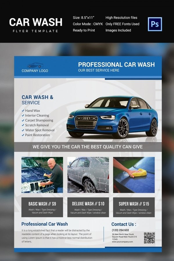 Auto Detailing Flyer Template Lovely Car Wash Flyer 48 Free Psd Eps Indesign format