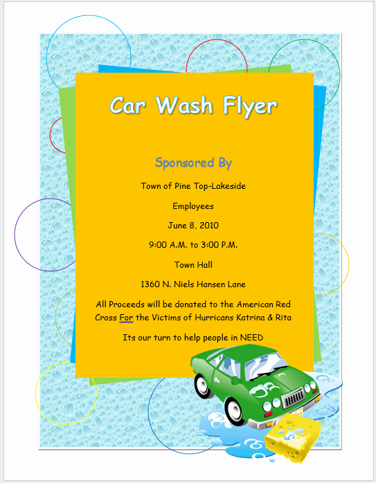 Auto Detailing Flyer Template Lovely Car Wash Flyer Template – Microsoft Word Templates