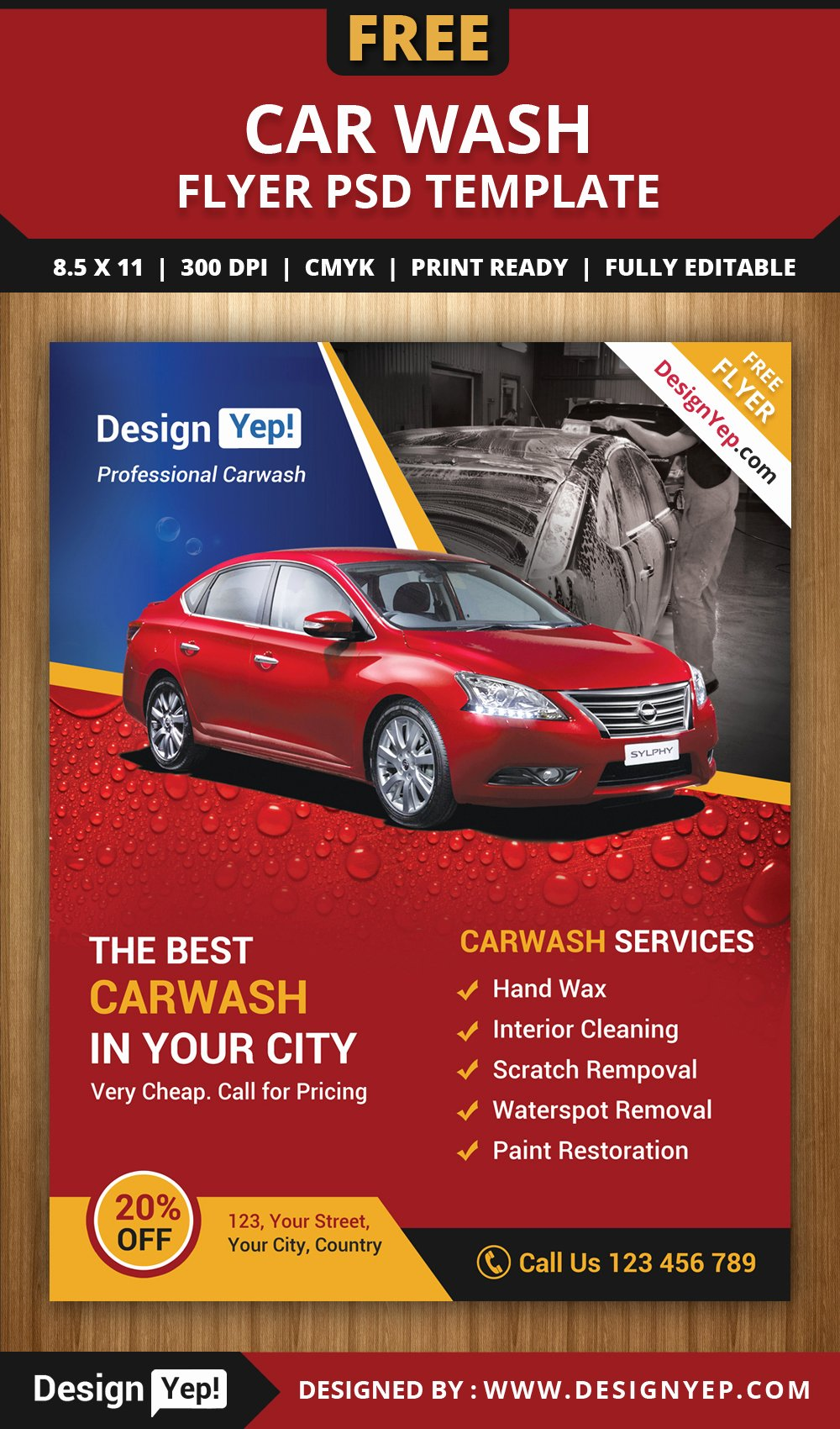 Auto Detailing Flyer Template Lovely Free Car Wash Flyer Psd Template Designyep