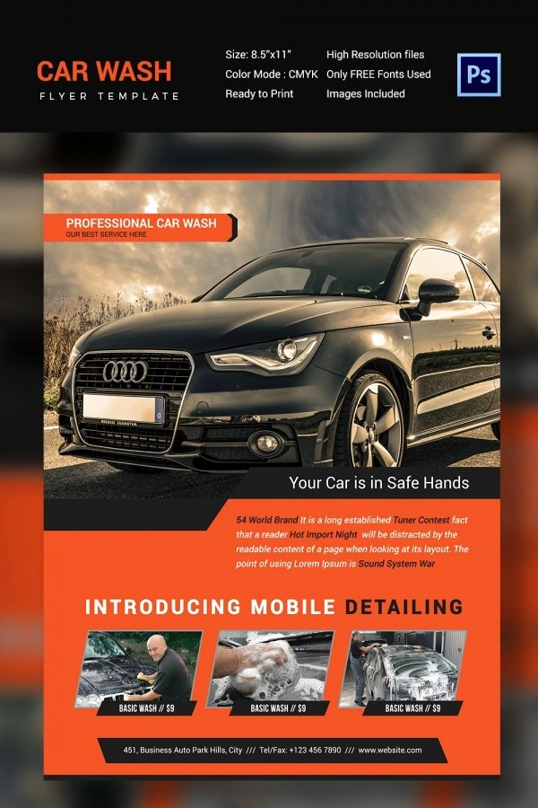 Auto Detailing Flyer Template Luxury Car Wash Flyer 48 Free Psd Eps Indesign format