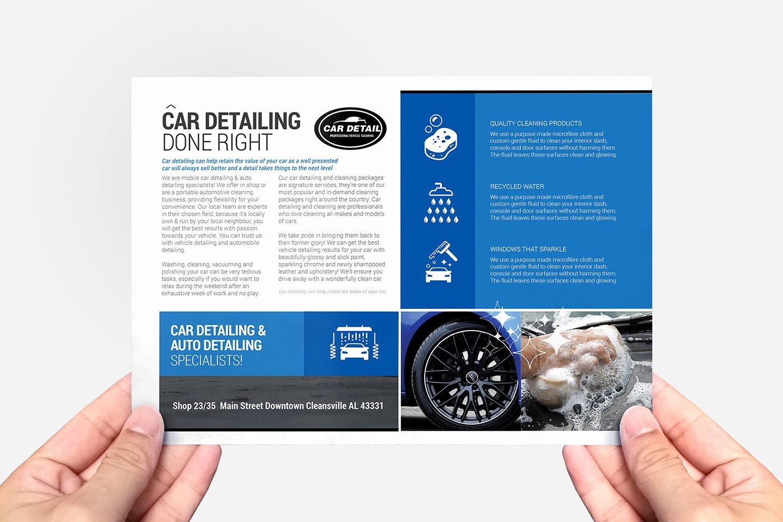 Auto Detailing Flyer Template New Car Detailing Flyer Template Psd Ai & Vector Brandpacks