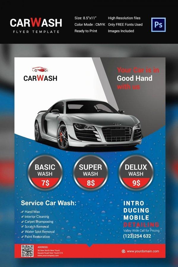 Auto Detailing Flyer Template Unique Car Wash Flyer 48 Free Psd Eps Indesign format