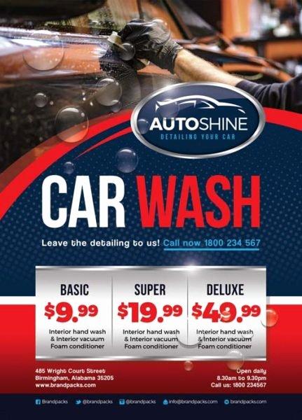 Auto Detailing Flyer Template Unique Free Car Wash Business Flyer Template Download for Shop