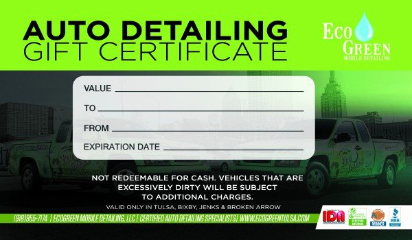 Auto Detailing Gift Certificate Template Elegant Gift Certificates