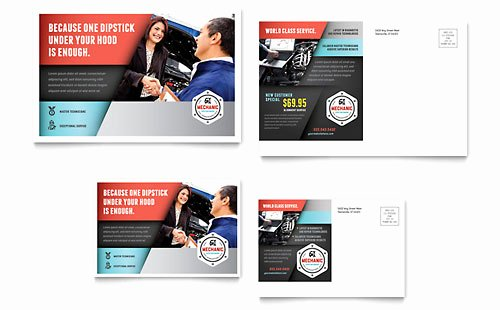 Auto Detailing Gift Certificate Template Lovely Auto Mechanic Flyer & Ad Template Design