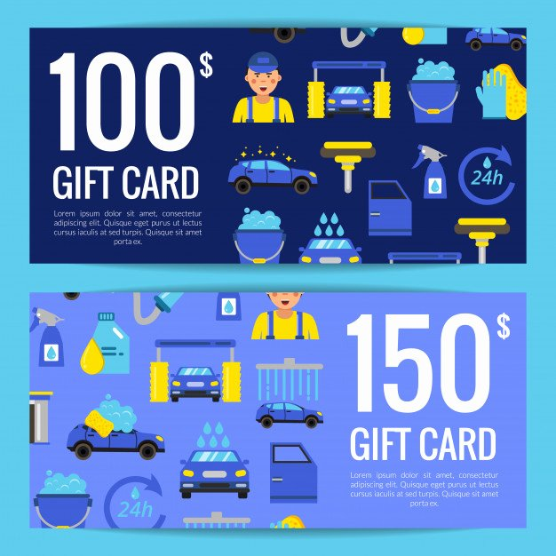 Auto Detailing Gift Certificate Template New Discount or T Card Voucher Templates with Car Wash Flat