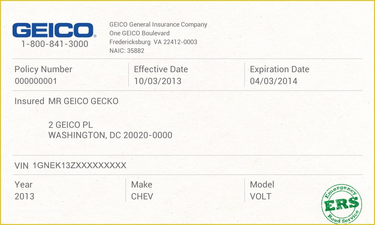 Auto Insurance Card Template Elegant Free Fake Auto Insurance Card Template Car Safety