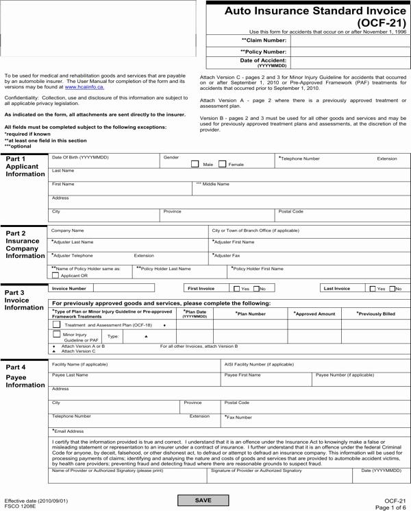 Auto Insurance Template Free Unique Download Auto Insurance Standard Invoice for Free