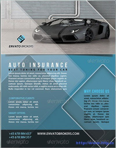 Auto Insurance Template New 30 Best Insurance Flyer Print Templates