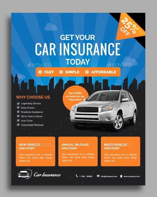 Auto Insurance Templates Luxury 10 Insurance Flyers Printable Psd Ai Vector Eps