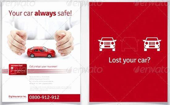 Auto Insurance Templates Luxury 13 Printable Insurance Flyer Template
