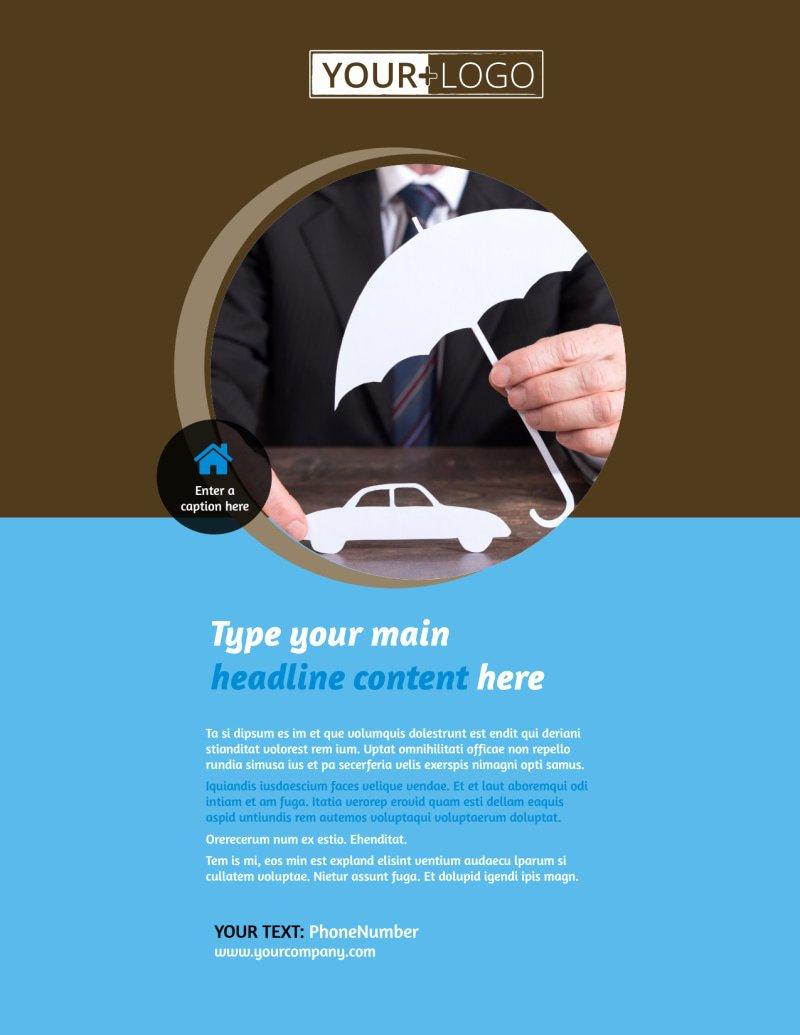 Auto Insurance Templates Luxury Reliable Auto Insurance Flyer Template