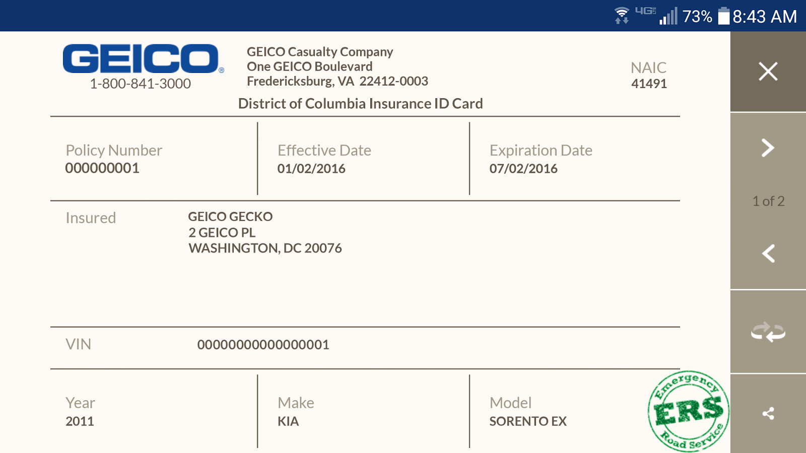Automobile Insurance Card Template Fresh Geico Mobile android Apps On Google Play