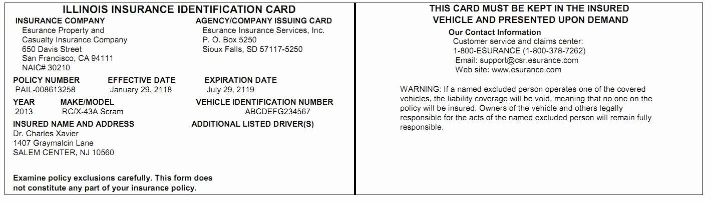Automobile Insurance Card Template Luxury Progressive Insurance Card Template
