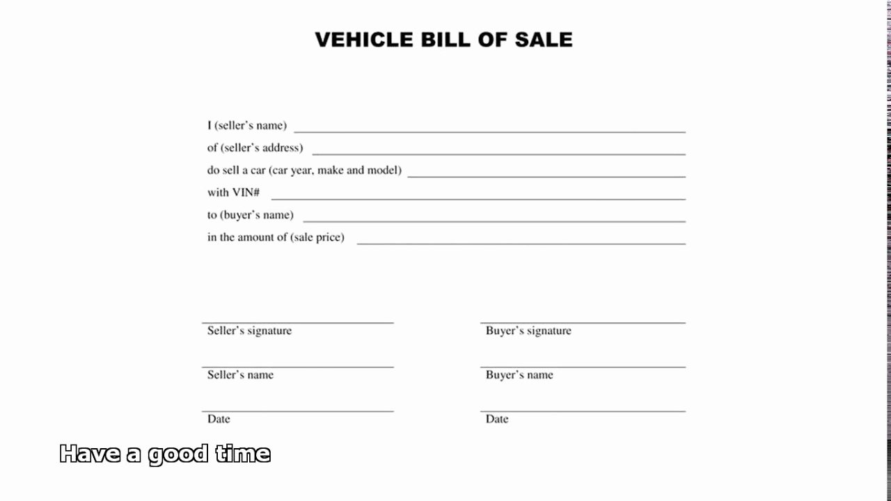 Automotive Bill Of Sale Alabama Best Of Bill Of Sale Car
