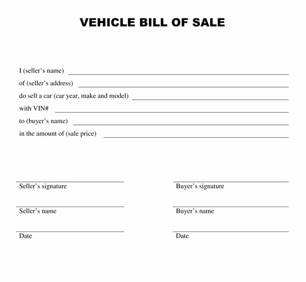 Automotive Bill Of Sale Alabama New Free Printable Vehicle Bill Of Sale Template form Generic