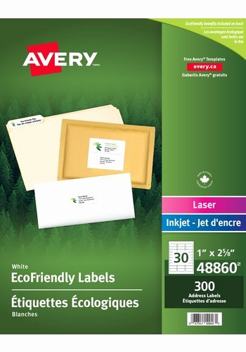 "Avery Labels 48860 Beautiful Avery Eco Friendly Address Labels 1"" X 2 5 8"