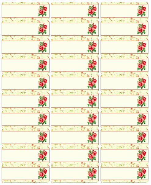 Avery Labels 48860 Elegant Free Address Label Rose Labels