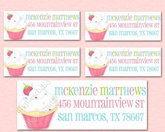 Avery Labels 48860 Fresh Sweet Shoppe Cupcake Return Address Labels by Lilypiestudio