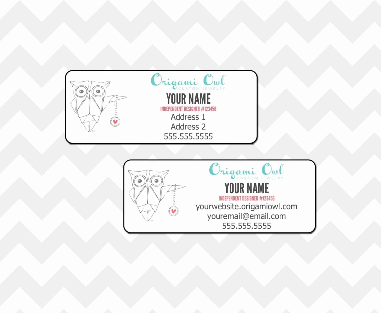 Avery Labels 48860 Unique origami Owl Return Address Label File by Blueeyeddesigns1
