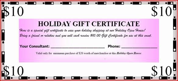 Avon Gift Certificate Template Elegant Mary Kay Open House Ideas
