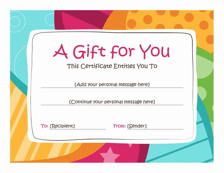Avon Gift Certificate Template Fresh Birthday T Certificate Template