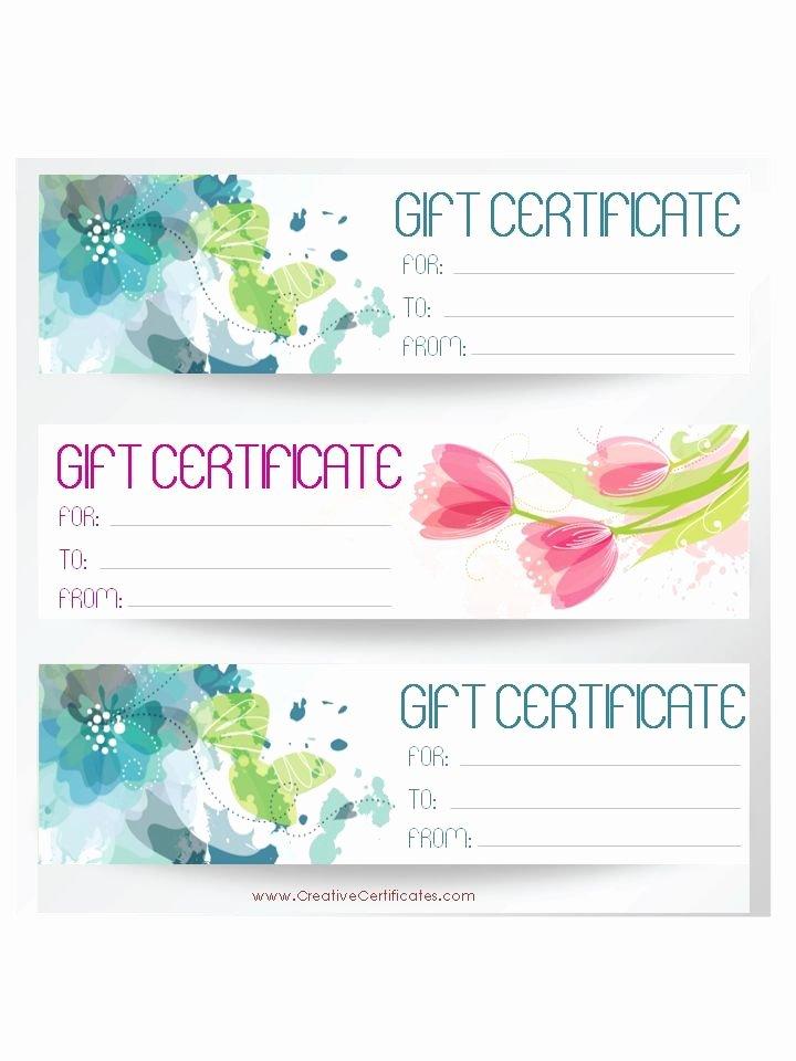 Avon Gift Certificate Template Inspirational 3 T Certificate Templates On One Page Avon