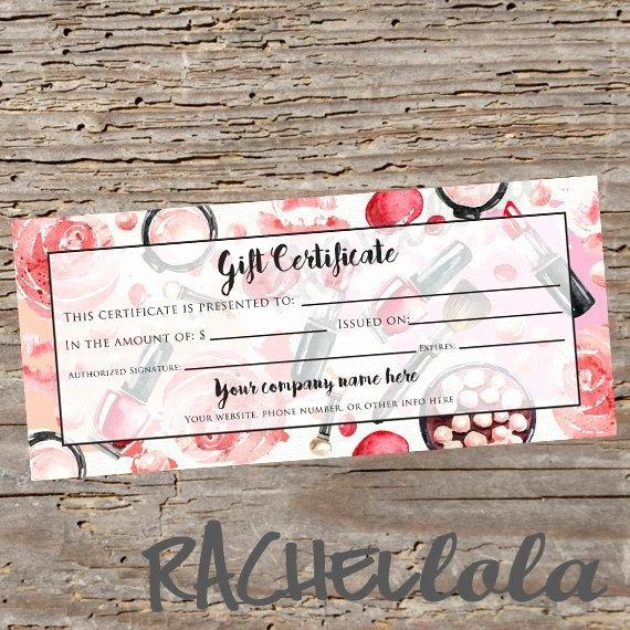 Avon Gift Certificate Template Inspirational Custom Red Makeup Printable Gift Certificate Template