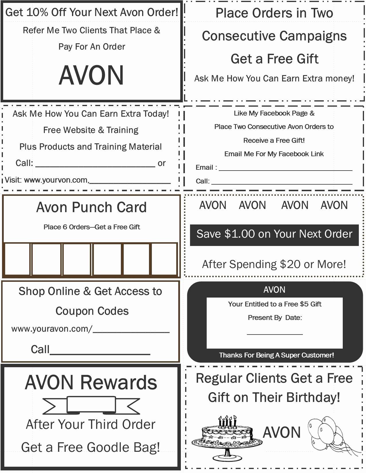 Avon Gift Certificate Template Unique Colleengaffney Avon Pinterest